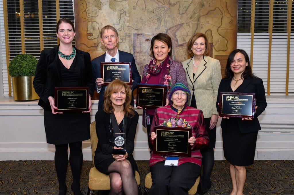 Photo of 6 award winners and Chief Judge Barbera