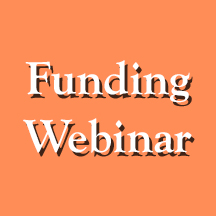"Text that reads ""Funding Webinar"""